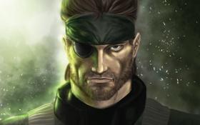 Обои лицо, повязка, Eater, Metal Gear Solid, арт, мужчина, Snake