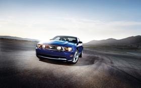 Обои машина, авто, пейзаж, горы, природа, обои, Mustang