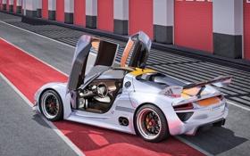 Обои двери, Porsche, авто, концепт, порше, 918, Concept