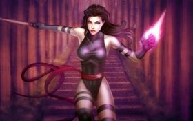 Картинка взгляд, девушка, оружие, фантастика, арт, костюм, marvel