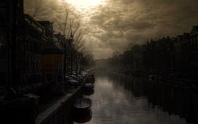 Обои city, город, лодки, фотограф, канал, photography, Lies Thru a Lens