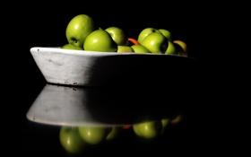 Картинка яблоки, плоды, миска, фрукты