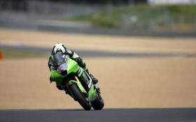 Картинка дорога, мотоциклы, гонка, скорость, гонки, Kawasaki, байки