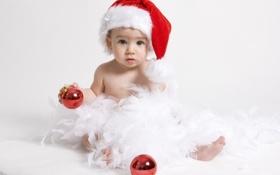 Картинка santa, child, baby, Christmas, New Year, Рождество, праздник
