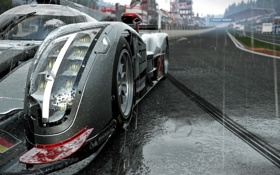 Обои Audi, Car, Racing, Rain, Gaming, Project Cars
