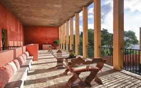 Обои дизайн, дом, стиль, вилла, интерьер, терраса, South Florida
