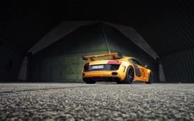 Обои авто, Audi, тюнинг, gold, задок, GT850, Prior-Design
