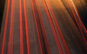 Обои дорога, огни, драйв, шоссе