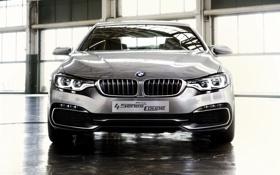 Обои Серый, BMW, 4 Series, Concept, Купэ, Передок, Фары