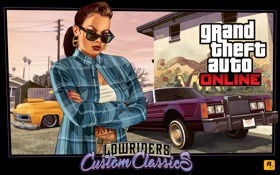 Обои девушка, машины, Lowriders, латинос, gta online