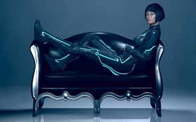 Обои девушка, костюм, трон, Tron: Legacy, Quorra