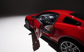 Обои car, авто, mustang, мустанг, ford, форд, красная машина