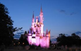 Обои США, USA, lanterns, фонари, Orlando, Диснейленд, сказка