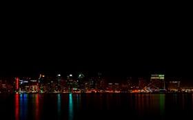 Обои огни, города, ночного, USA - California - San Diego