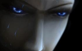 Обои глаза, лицо, трещины, злость, арт