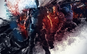 Картинка Background, Video Games, DC Comics, Warner Bros. Games Montreal, Batman: Arkham Origins, Deathstroke, Rocksteady Studios