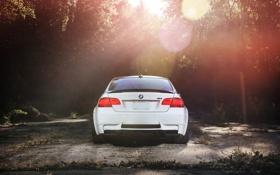 Картинка белый, bmw, бмв, white, задок, e92, спортивное купе