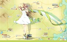 Картинка игра, карта, аниме, девочка, katahane