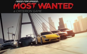 Картинка мост, гонка, спорткары, need for speed most wanted 2
