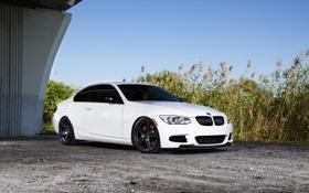 Обои E92 335i, BMW, Диски, БМВ, White, Белая