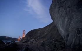 Картинка мост, природа, Golden Gate from Marshall Beach