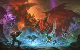 Обои starcraft, битва, Sonya, diablo, warcraft, art, arthas