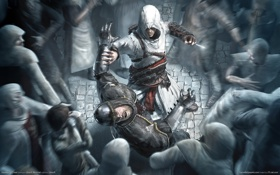 Картинка убийство, кинжал, wallpaper, game, альтаир, creed, assasins