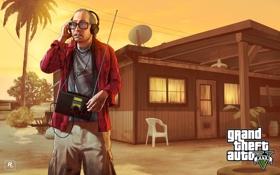Обои дом, радио, рон, Grand Theft Auto V, gta5