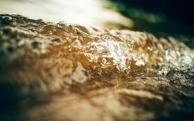 Картинка волны, вода, капли, макро, брызги, течение, поток