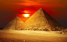Обои песок, закат, пустыня, Египет, desert, sunset, sand