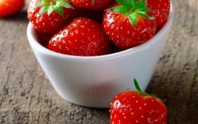 Обои ягоды, клубника, миска, strawberry, fresh berries