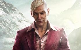 Обои Горы, Взгляд, Снег, Ubisoft, Злодей, Far Cry 4, Паган Мин
