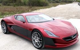 Обои концепт, автомобиль, красивый, передок, Concept One, Rimac, электрический суперкар