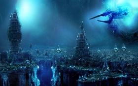 Картинка будущее, фантастика, корабль, Sci-fi. арт
