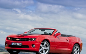 Обои car, Chevrolet, Camaro, red, sportcar, Convertible