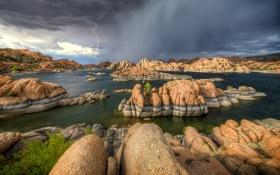 Картинка Watson Lake, Prescott, Thunderstorm, Arizona