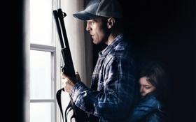 Картинка оружие, окно, отец, кепка, дробовик, Homefront, Jason Statham