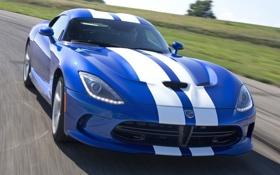 Обои синий, полосы, фон, Додж, Dodge, суперкар, Viper