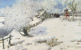 Картинка зима, Пейзаж, картина