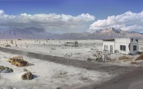 Обои пустыня, техас, дикий запад, call of juarez, the cartel