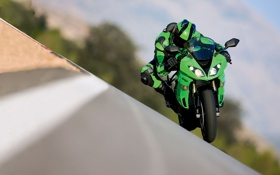 Картинка Kawasaki, мото обои, Ninja ZX-6R, 1920x1200 wallpapers