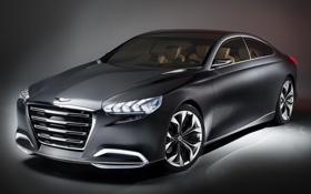 Картинка авто, Concept, черный, концепт, Hyundai, хёндай, Genesis
