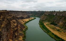 Обои река, скалы, каньон