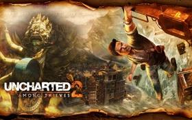 Картинка Uncharted 2, Uncharted, Натан Дрейк, Among Thieves