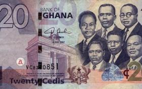 Обои money, bank, ghana, cedis, 20, blue, twenty, people