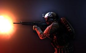 Картинка оружие, солдат, экипировка, Battlefield 4