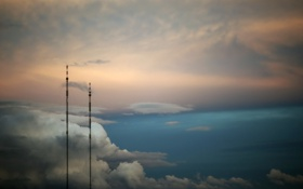 Картинка небо, облока, вышки