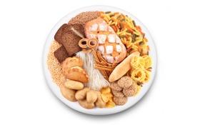Картинка зерно, тарелка, хлеб, выпечка, хворост, макароны, чёрный хлеб