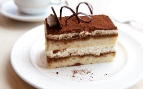 Обои торт, пирожное, десерт, сладкое, sweet, cream, dessert