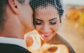 Обои девушка, ресницы, улыбка, невеста